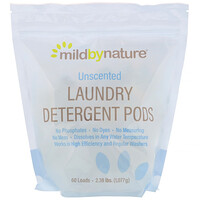 Laundry Detergent Pods, Unscented, 60 Loads, 2.38 lbs (1,077 g) - фото