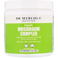 Healthy Pets, Organic Mushroom Complex, For Cats & Dogs, 2.1 oz (60 g) - фото
