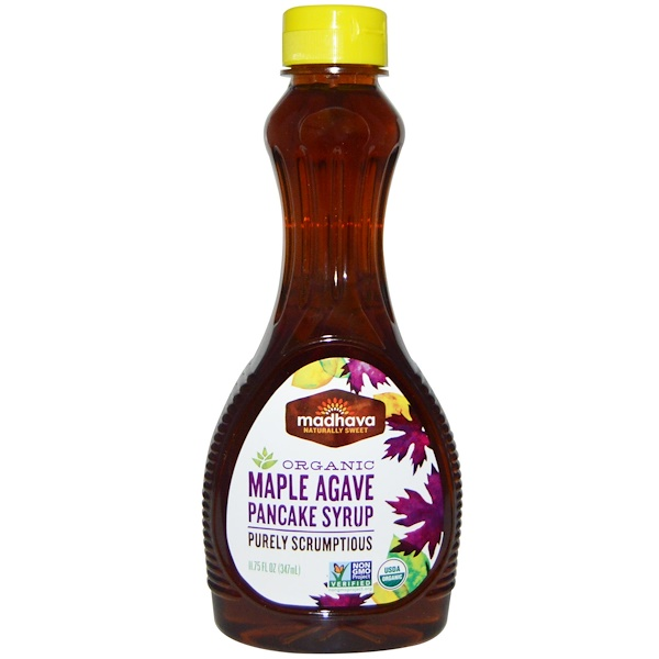 Madhava Natural Sweeteners, Organic Maple Agave Pancake Syrup, 11.75 fl oz (347 ml) (Discontinued Item)