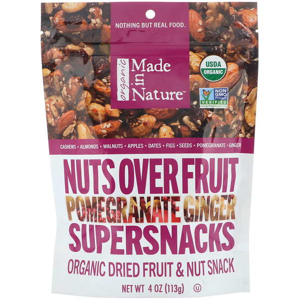 Organic Nuts Over Fruit, Pomegranate Ginger Supersnacks, 4 oz (113 g)