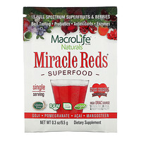 Miracle Reds, Superfood, Goji- Pomegranate- Acai- Mangosteen,  9.4 g - фото