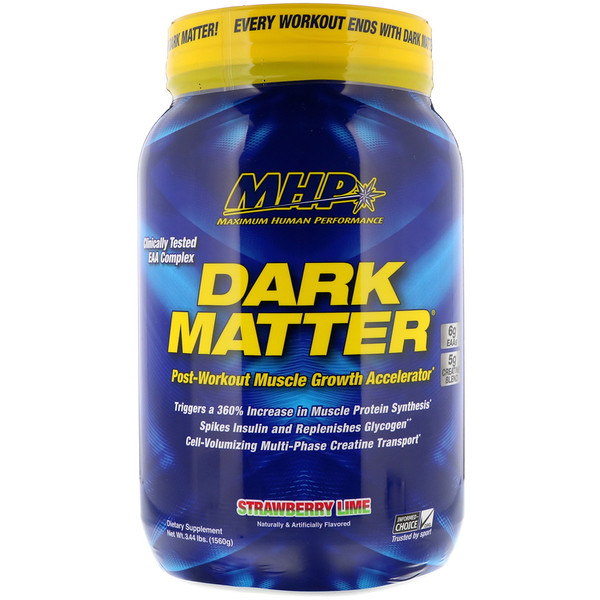 Dark Matter, Post-Workout Muscle Growth Accelerator, Strawberry Lime , 3.44 lbs (1560 g)