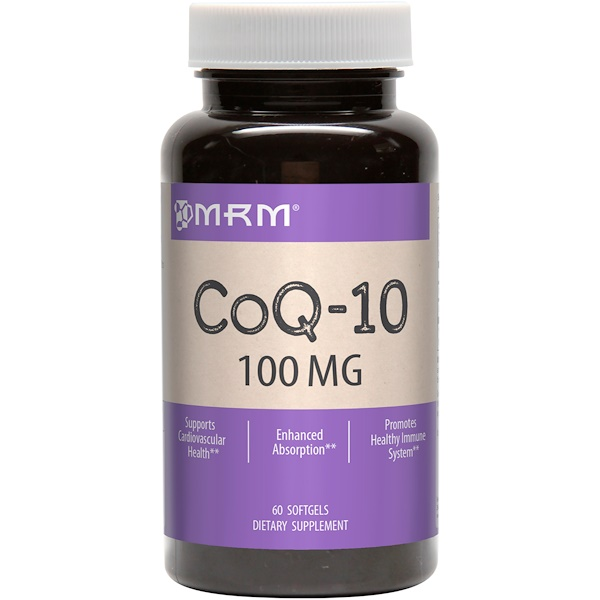 CoQ-10, 100 мг, 60 гелевых капсул