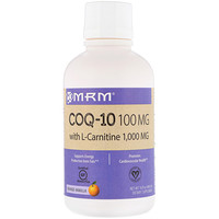 COQ-10 with L-Carnitine, Orange-Vanilla, 100 mg / 1,000 mg, 16 fl oz (480 ml) - фото