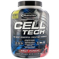 Cell Tech, The Most Powerful Creatine Formula, Fruit Punch, 6.00 lb (2.72 kg) - фото