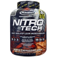 NitroTech, Whey Isolate+ Lean Musclebuilder, Mocha Cappuccino Swirl, 1,8 кг (3,97 фунта) - фото