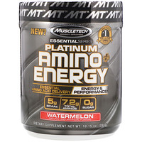 Platinum Amino Plus Energy, Watermelon, 10.15 oz (288 g) - фото