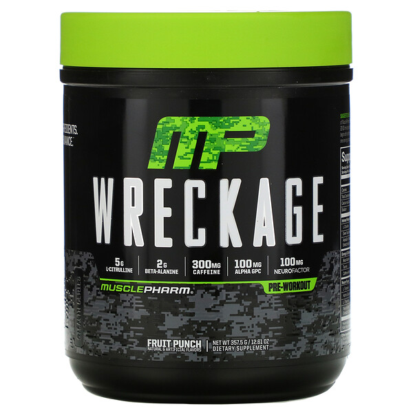 Wreckage, Pre-Workout, Fruit Punch, 12.61 oz (357.5 g)