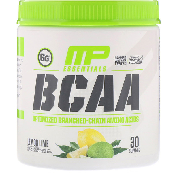 Essentials, BCAA, Lemon Lime, 0.52 lbs (234 g)