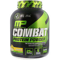 Combat Powder, Advanced Time Release Protein, Banana Cream, 4 lbs (1814 g) - фото