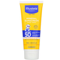 Baby, Mineral Sunscreen, Face + Body, SPF 50, 3.38 fl oz (100 ml) - фото
