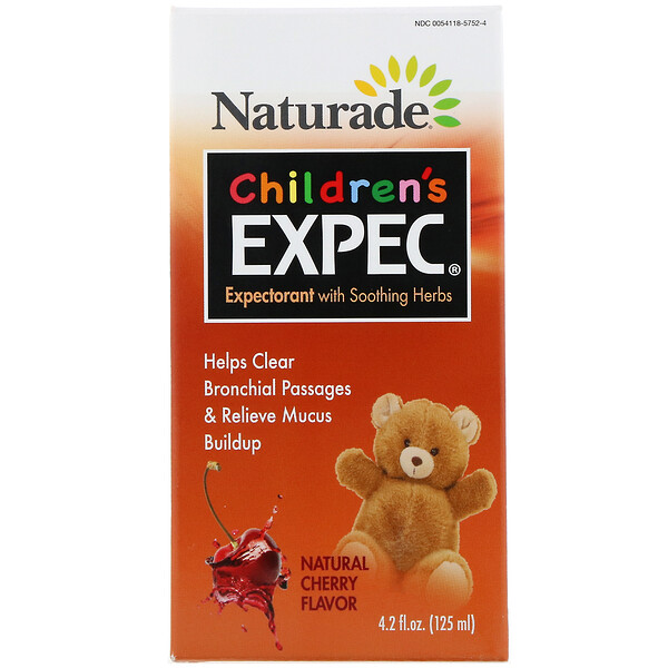 Children's EXPEC, Expectorant with Soothing Herbs, Natural Cherry Flavor, 4.2 fl oz (125 ml)