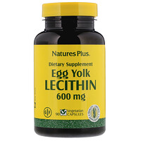 Egg Yolk Lecithin, 600 mg, 90 Vegetarian Capsules - фото