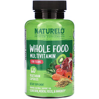 Whole Food Multivitamin for Teens, 60 Vegetarian Capsules - фото