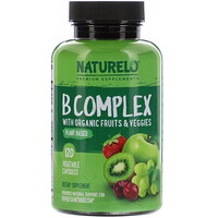 B Complex with Organic Fruits & Veggies, 120 Vegetable Capsules - фото