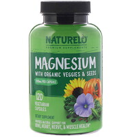 Magnesium with Organic Veggies & Seeds, 200 mg, 120 Vegetarian Capsules - фото