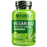 Vegan B12 Infused with Spirulina, 90 Easy Swallow Capsules - фото