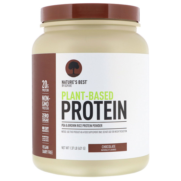 Isopure, Nature's Best, Plant-Based Protein, Chocolate, 1.37 lb (621 g)
