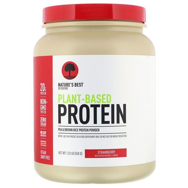 Isopure, Nature's Best,  Plant-Based Protein, Strawberry, 1.23 lb (558 g)