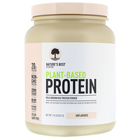 Plant-Based Protein, Unflavored, 1.15 lb (521 g) - фото