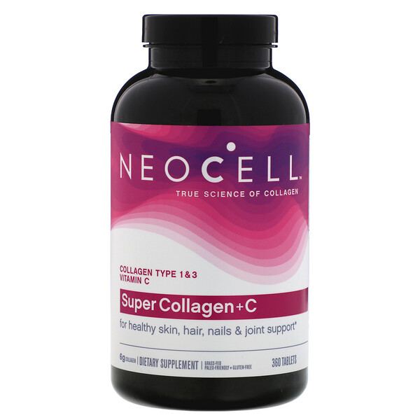 Neocell, Super Collagen + C, Collagen Type 1 & 3, 360 Tablets