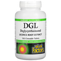DGL, Deglycyrrhizinated Licorice Root Extract, 180 Chewable Tablets - фото