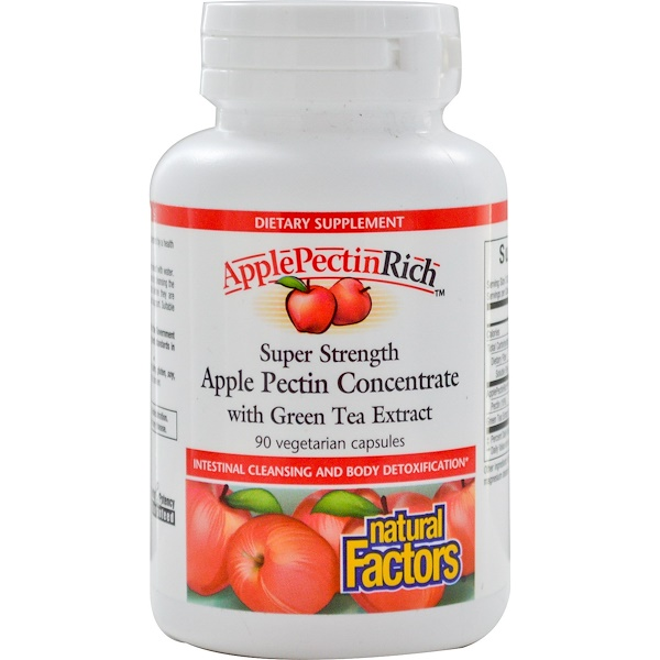 Natural Factors, Apple Pectin Concentrate, Super Strength , 90 Vegetarian Capsules