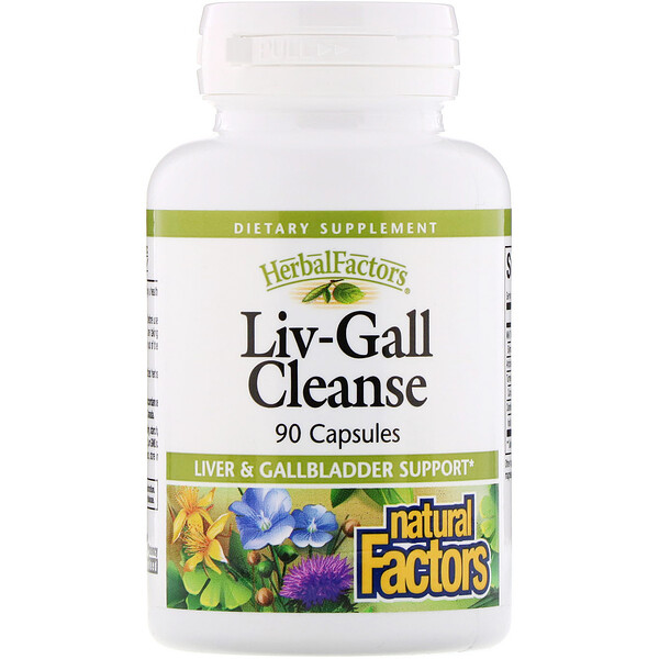 Natural Factors, Liv-Gall Cleanse, 90 капсул