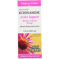 Echinamide Active Support, Honey Lemon Syrup, 5 fl oz (150 ml) - фото
