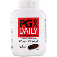 PGX Daily, Гелевые капсулы Ultra Matrix, 750 мг, 120 гелевых капсул - фото