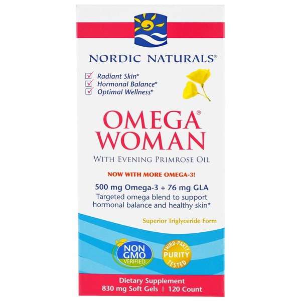 Omega Woman with Evening Primrose Oil, 830 mg, 120 Soft Gels