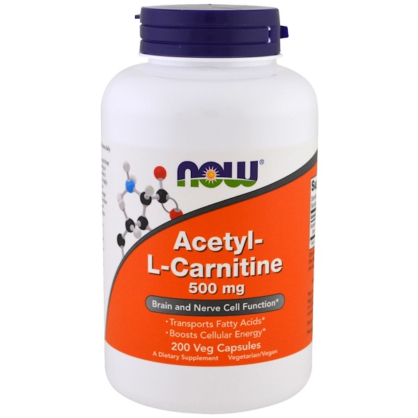 Acetyl-L-Carnitine, 500 mg, 200 Veg Capsules