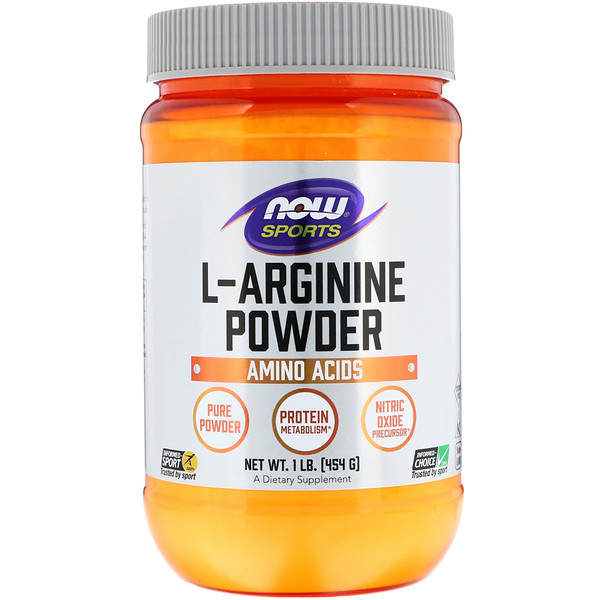 Now Foods, Sports, L-Arginine Powder, 1 фунт (454 г)