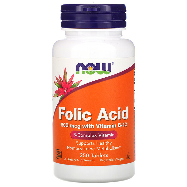 Folic Acid, 800 mcg, 250 Tablets