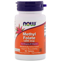 Methyl Folate , 1,000 mcg, 90 Tablets - фото