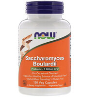 Saccharomyces Boulardii, 5 Billion CFU, 120 Veg Capsules - фото