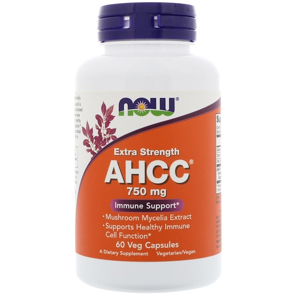 Now Foods, AHCC, 750 mg, 60 Veg Capsules (Discontinued Item)