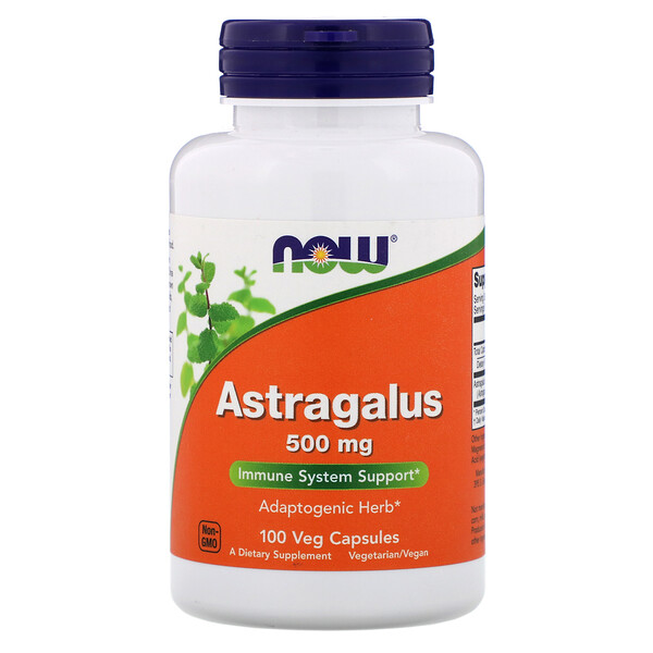Now Foods, Astragalus, 500 мг, 100 капсул