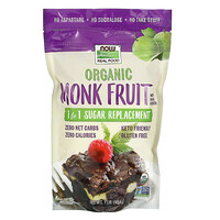Real Food, Organic Monk Fruit, 1-to-1 Sugar Replacement , 1 lb (454 g) - фото