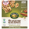 Nature's Path, Organic, Sunrise Breakfast Bars, Pumpkin-N-Spice, 6 Bars, 1.2 oz (35 g) Each