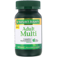 Adult Multi, Complete Multivitamin with D3 , 100 Tablets - фото