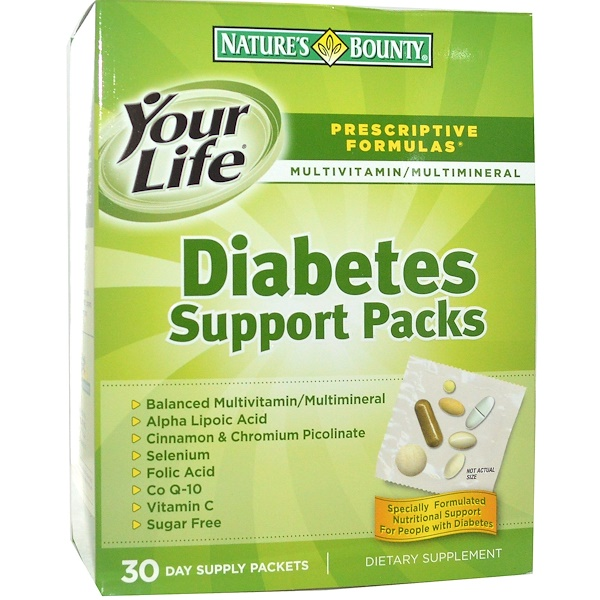 Nature's Bounty, Diabetes Support Packs, Multivitamin & Multimineral Supplement, 30 Packets (Discontinued Item)