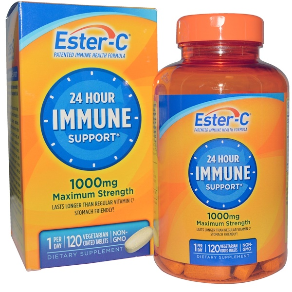 Nature's Bounty, Ester-C, 1,000 mg, 120 Vegetarian Coated Tablets