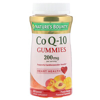 Co Q10 Gummies, Peach Mango Flavored, 200 mg, 60 Gummies - фото