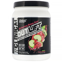 Outlift, Clinically Dosed Pre-Workout Powerhouse, Apple Watermelon, 26.8 oz (759 g) - фото