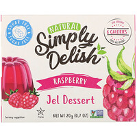 Natural Jel Dessert, Raspberry, 0.7 oz (20 g) - фото