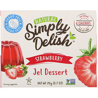 Natural Jel Dessert, Strawberry, 0.7 oz (20 g) - фото