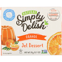 Natural Jel Dessert, Orange, 0.7 oz (20 g) - фото