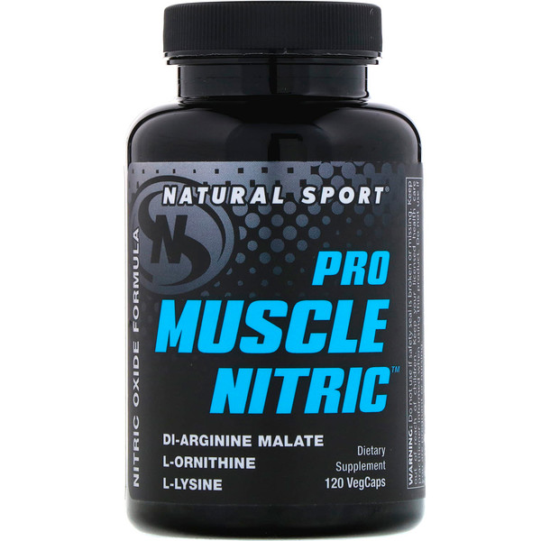 Natural Sport, Pro Muscle Nitric, 120 VegCaps (Discontinued Item)