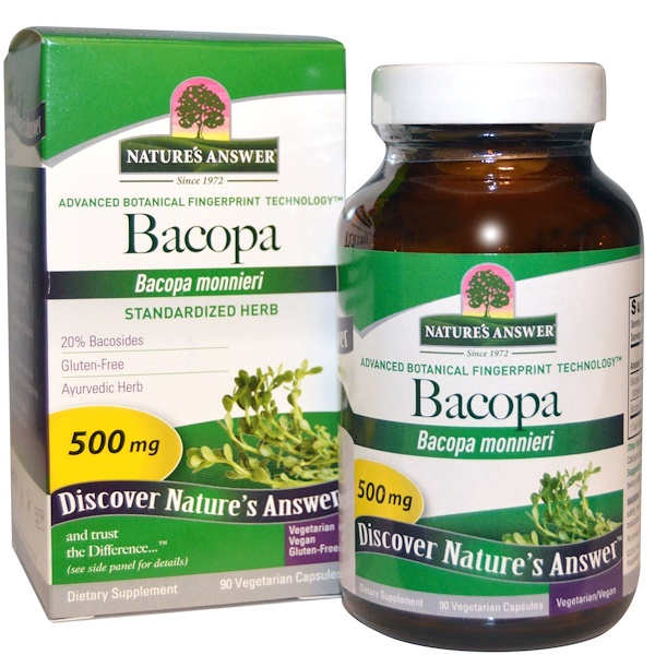 Nature's Answer, Bacopa, 500 mg, 90 Vegetarian Capsules